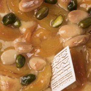 Abrikoos frangipane bladerdeeg notenmengeling