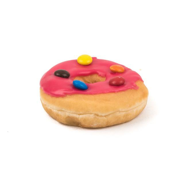 rose donut met m&m's