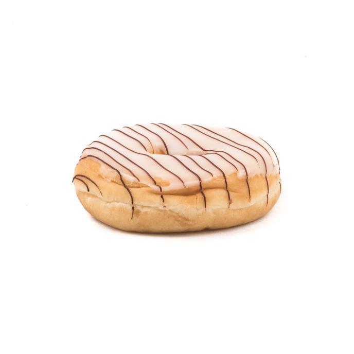 witte donut met streepjes